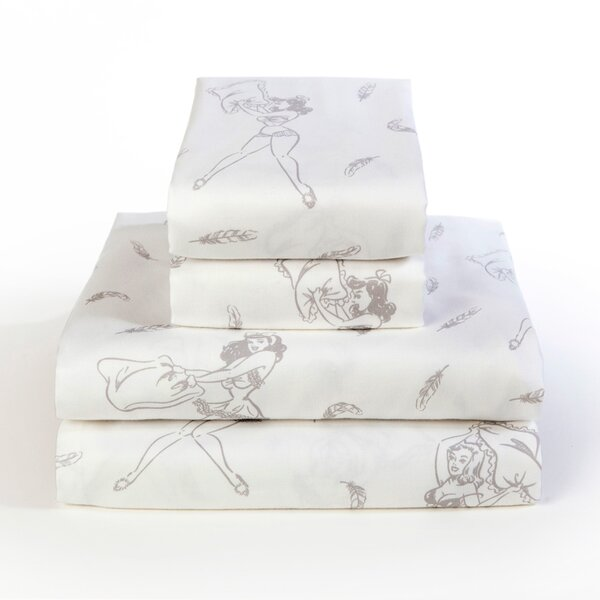 Pillow Fight 300 Thread Count 100% Cotton Sheet Set by Sin In Linen